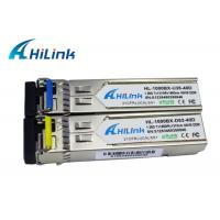 Buy cheap WDM 1310nm / 1550nm SFP Transceiver Module 40KM PIN Receiver Hilink Brand product