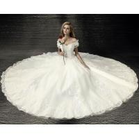 Buy cheap Exquisite Slim Lace Princess Wedding Gowns Summer elegant wedding dresses LXHS-1558 from wholesalers