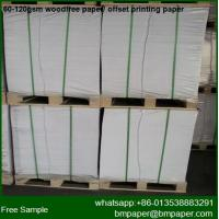 Buy cheap 66cm*96cm Book Paper Offset Printing 60gsm Bond Paper from wholesalers