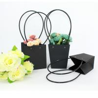 Wholesale Waterproof Flower Packaging Carry Kraft Paper Bag With Plastic Handle from china suppliers