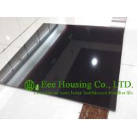 Black Color Polished Porcelain Tile For Floor And Wall, 600mm * 600mm Black polished tile Manufactures