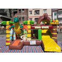 Buy cheap Dinosaur Park Inflatable Bounce Slide Combo Jumping Castle With Slide For from wholesalers