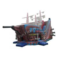 Buy cheap Outdoor Pirate Ship Inflatable Bouncer / Inflatable Pirate Ship Slide from wholesalers