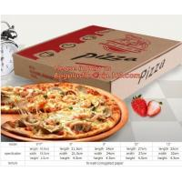 Buy cheap Carton corrugated paper pizza delivery box,bio-degradable high quality chinese food products custom kraft paper pizza pa from wholesalers