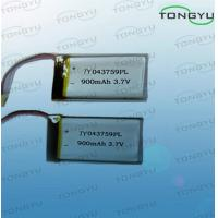 Wholesale 900mAh 3.33WH Lithium Polymer Battery Cell 3.7V With High Power Density from china suppliers