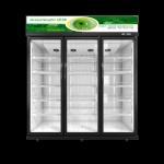 Buy cheap Black Auto Defrost Swing Glass Door Merchandising Freezers Aluminum Alloy Frame from wholesalers
