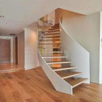 Buy cheap Top Grade Residential /Commercial Prefabricated curved stair for small house product