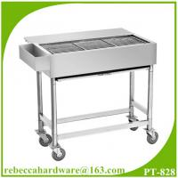 Buy cheap Commercial bbq grill stainless steel barbecue cart / street food snack mobile bbq cart from wholesalers