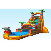 Buy cheap Barry PVC Material Inflatable Water Slides 22FT Tropical Paradise With Silk Printing from wholesalers