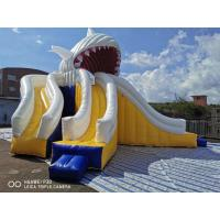 Buy cheap Giant Shark Commercial Inflatable Water Slides / Triple Lanes Adults Water Slide from wholesalers