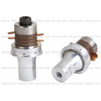 Buy cheap Inverted Flange Ultrasonic Piezoelectric Transducer For Non Woven Sealing Machine from wholesalers