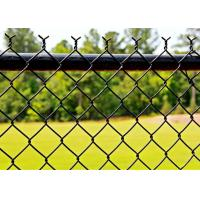 Buy cheap Durable Black Chain Link Fence Privacy Fabric Hot Dipped Galvanized Mesh Fence from wholesalers