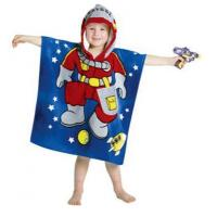 Buy cheap 100% Cotton Poncho Hooded Towel for kids from wholesalers