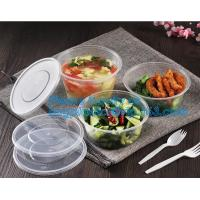 Buy cheap Cheap Food grade salad plastic bowl disposable plastic salad bowl,Eco-friendly white PP plastic round food container noo from wholesalers