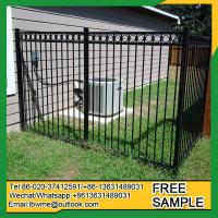 Buy cheap MountPleasant decorative aluminum fence panels used galvanized tube fencing from wholesalers