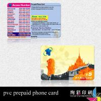 Buy cheap Printed Mobile Prepaid Calling Card With Magnetic Stripe Temperature Anti-Counterfeiting from wholesalers