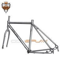Buy cheap Custom Titanium Bike Frame Travel Bicycle Disc Brake Compatible To  25c / 28c from wholesalers