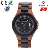 Japan Movement Wooden Wrist Watch With Spring Buckle , Logo Customized Manufactures
