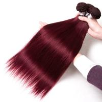 Buy cheap Healthy 99J Color Peruvian Straight Hair Bundles 30 Inch No Chemical from wholesalers