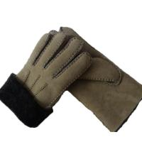 Buy cheap Spanish Merino Sheepskin Double Face Leather Winter Gloves Hand Sewn Men Gloves from wholesalers