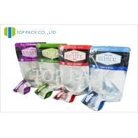 Seasoning Resealable Plastic Bags Spices Packaging Zipper Food Grade PET / PE Manufactures