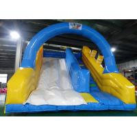 Buy cheap Blue Sky Color Inflatable Dry or Wet Slide with Arch Door&Stairs product