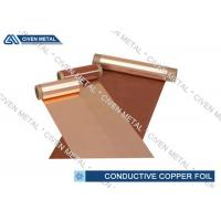 Buy cheap 600mm Conductive Copper Foil Sheet , Single - Shiny Treated RA Cu Foil from wholesalers