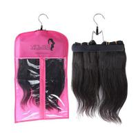 Wholesale Custom pvc hair extensions carrier hair extension hanger bags.Size 29CM*65CM.Material is PVC and  woven from china suppliers