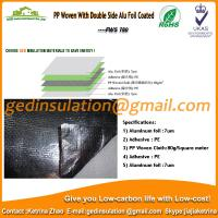 Buy cheap PP Woven With Double Side Alu Foil Coated as radiant barrier from wholesalers