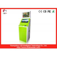 Buy cheap Green Steel Self Service Payment Kiosk Ergonomically With Touch Screen from wholesalers