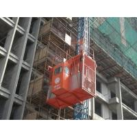 Buy cheap Durable RED Construction Hoist Elevator Safety with autimatic leveling device from wholesalers
