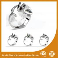 Wholesale Cat Shape Silver Ruby Fashion Jewelry Rings Flower Engagement Ring from china suppliers