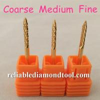 High Hardness Small Flame Carbide Burr Safety Nail Drill Bit , Length 38MM Manufactures