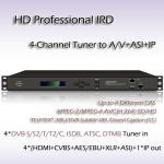 Buy cheap RIH1304 4-Channel HD Professional IRD DVB-T/T2, DVB-S/S2, DVB-C, ATSC-T or ISDB-T Receiver from wholesalers