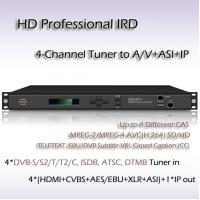 Buy cheap RIH1304_IP DVB-T2 4-Channel HD Professional IRD MPEG-4 H.264 Decoder from wholesalers