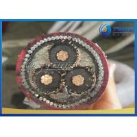 Buy cheap Red Color MV Power Cable Underground Power Cable With XLPE Insulation from wholesalers
