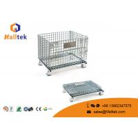Buy cheap Foldable Wire Mesh Storage Bins Durable Industrial Galvanized Steel Cage from wholesalers