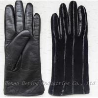 Buy cheap Plain Type Daily Life Usage Ladies Suede Leather Gloves from wholesalers