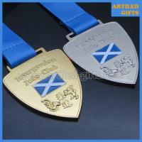Buy cheap Custom design die casting gold silver finish enamel logo Judo sports medal with lanyard from wholesalers