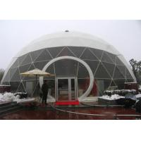 Buy cheap 4m 10 Person Dome Tent , LED Elegant Aluminium Structure Outdoor Dome Tent from wholesalers