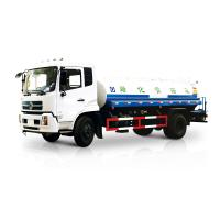 Buy cheap White Liquid Tanker Truck , Water Spraying Truck Front Spray Rear Sprinkling Side Spray Gun from wholesalers