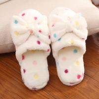 Buy cheap Lovely Winter Indoor Slippers , Bow Plush Slides Girls Winter Slippers from wholesalers