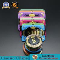 Buy cheap Customized Casino Poker Chips / Anti - Counterfeiting Round Gambling Chips from wholesalers