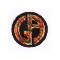 Heat - Sealed Machine Embroidery Badges 3D Embroidered Crest Patches Manufactures