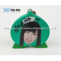 Buy cheap OEM Green Peach Shaped Musical Keyring , Custom Talking Keychain product