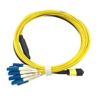 Buy cheap MPO - LC SX Fiber Optic Patch Cord Single Mode For QSFP optical Transceiver from wholesalers