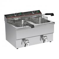 Buy cheap High Efficiency Commercial Electric Deep Fryer, 2-basket fryer Machine for French Fries from wholesalers