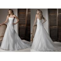 Quality 2013 Elegant A-line Scoop Ivory Pleated Appliqued Organza Wedding Dress Patterns for sale