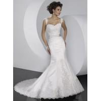 Wholesale 2013 White/Ivory Mermaid Appliques Hand Made Flowers Wedding Dress Custom Size  from china suppliers