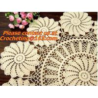 Buy cheap Crocheted Applepine flower Table cloth, table cover, handmade crochet, blanket, clothes from wholesalers